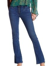 NWT Free People Denim Slim Flare Stretch Trouser Jeans In Tulip Size 25 (0) $78