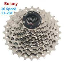 BOLANY Pro MTB 10 Speed Cassette 11-28T Road Bike Freewheel Cycling Parts Silver