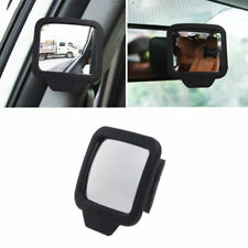 1xCar Black Shell Wide Angle Auxiliary Rear View Blind Spot Baby Backseat Mirror
