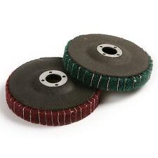"""2pcs 4"""" Grit 120# 240# Nylon Fiber Flap Polishing Grinding Disc Wheel Dia 100mm"""