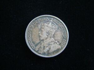 Canada 1914 Silver 25 Cents VF KM#24 70926