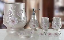6 Piece Decorative Bathroom Accessory set Made of Ceramic (Melarose Pink)