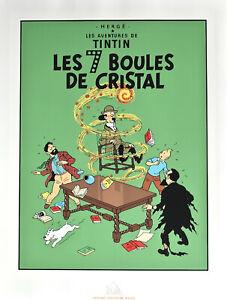 """HERGÉ.TINTIN . SÉRIGRAPHIE - """" LES 7 BOULES DE CRISTAL """""""