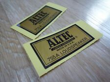 ALTEC LANSING 755A Type-B decal sticker label - New reproduction for replacement