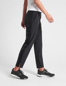 ATHLETA Brooklyn Ankle Pant 4P (SP S PETITE) Black Lightweight CITY PANTS Travel