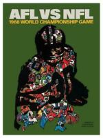 Green Bay Packers vs Oakland Raiders **LARGE POSTER* 1968 Football SUPER BOWL II