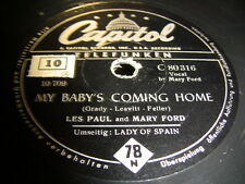 3/1 Les Paul und Mary Ford - My Baby Coming Home - Lady Of Spain