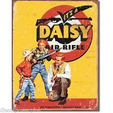 Vintage Replica Tin Metal Sign red ryder daisy air rifle bb gun shot cowboy 1470