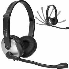 Headphone w Noise Canceling Mic Durherm DR-H10 Computer PC Laptop On Ear Headset