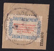 TIMBRE SERVICE- N°15A  Oblitéré sur fragment- sans defaut 1er choix ! ANNÉE 1946