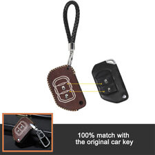 Leather Key Case Holder Protector For Jeep Wrangler JL JLU 2018 2019 Accessories