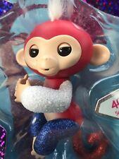 Fingerling Rare Fingerlings Monkey Liberty Red White Blue Glitter 4th Of July