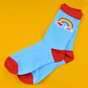 F**k Off Rainbow Socks Rude Cheeky Sweary Cotton Socks Gift