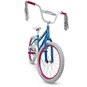 Huffy Girls Bike SeaStar 20 inch Blue Adjustable single-speed Safe Bike Steamers