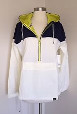 NEW BALANCE FOR J.CREW ESSENTIAL WINDBREAKER S $120 #f6358 Navy/Ivory SOLDOUT!