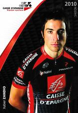 CYCLISME carte  cycliste XABIER ZANDIO équipe CAISSE D'EPARGNE 2010