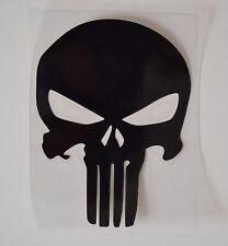 Punisher Black Skull Car Window Vinyl Decal  9cm x 12cm