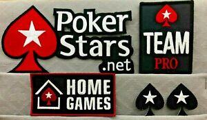 POKER IRON ON PATCH POKER.NET WSOP, HOME GAMES, TEAM PRO, SMALL BLACK SPADE