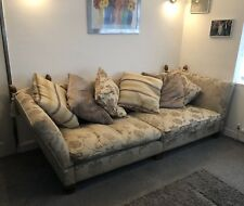 Duresta Trafalgar 8ft Extra Long Wide Deep 4 Seat Sofa with Scatter Back Cushion