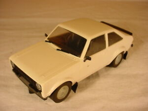 Rare Scalextric Pre Production Prototype Ford Escort MkII White Plastic Sample