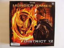 The Hunger Games Movie The District 12 Strategy Board Game COMPLETE!  EUC!