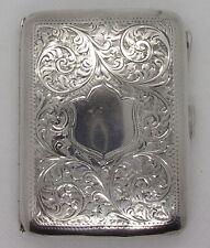 More details for vintage solid silver cigarette case birmingham 1942