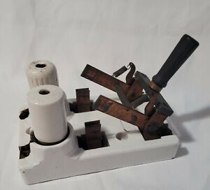 Industrial Electric Knife Switch Vintage Antique