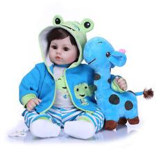 Reborn Babypuppe Realistisch Neugeborene Reborn mir Kleidung Schnuller Set Puppe