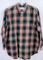 RALPH LAUREN POLO Green Red Plaid Long Sleeve Button Down Shirt Sz 3XLT Tall