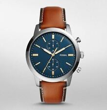 Fossil FS5279 Men's Chronograph Watch Brown Leather 44mm Case 5ATM WR RRP$229