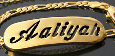 Name Bracelet AALIYAH 18ct Gold Plated Mother's Day Girlfriend Jewellery Gift