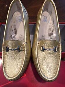 SAS Tripad Comfort Womens Gold Size 8 W Slip On Leather Comfort Shoes