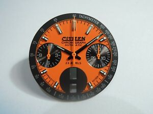 """NEW REPLACEMENT CITIZEN DIAL & HANDS FOR 8110 CHRONOGRAPH """"BULLHEAD"""" MEN'S WATCH"""