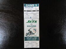 1993 New York Jets Ticket Stub November 7 1993 vs Miami Dolphins 11-7-93