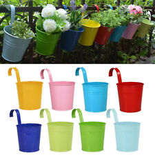 10pcs Flower Pots Hanging Flower Pots Garden Pots Metal Bucket Flower Holders