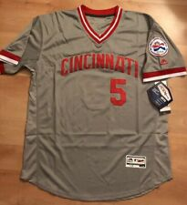 e312f52bf Johnny Bench Cincinnati Reds Jersey  5 Road Gray Throwback Pullover Mens  sewn