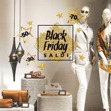 UVBF0002 Vetrofanie Black Friday adesivi per vetrine negozi promozioni 60X35 cm