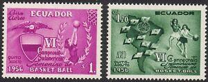 1956 Ecuador SC# C308-C309 - 6th South American Women's Basketball Champ. - M-H