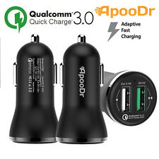 ApooDr QC3.0 4.8A 2-Port USB Fast Car Charger for iPhone Samsung Htc Nokia LG