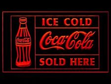 Ice Cold Coca Cola Sold Here Soda Coke LED Light Sign US seller
