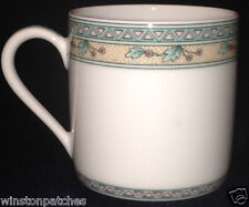 PORCELAINE LAFARGE LIMOGES FRANCE GRIOTTES DEMITASSE CUP CHERRIES & TRIANGLES