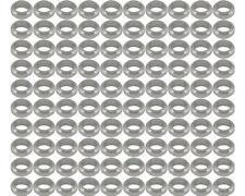 DISTANZIALE RUOTA argento 17 mm x 10mm prokart CADET x 100 UK kart Store