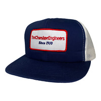 Vintage 90s The Chester Engineers Patch Foam Mesh Snapback Trucker Hat Cap New