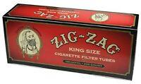 Zig Zag Cigarette Tubes Full Flavor King Size - 200Ct Box