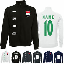 Irak IRAQ WM 2022 Sweat Jacke Trikot Name Nummer
