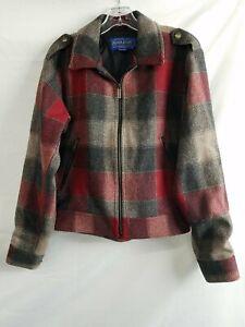 Pendleton Red Plaid Coat Womens Sz S