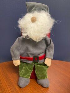 NEW Pottery Barn Gnome Wine Bottle Bag Holder Christmas Holiday Hostess Gift NWT