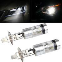 2pcs H1 6000K 100W LED White 12-24V 20-SMD Projector Fog Driving DRL Light Bulb