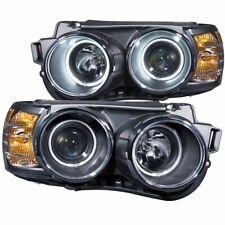 FOR 12-14 CHEVROLET SONIC 4DR/2DR PROJECTOR HALO HEADLIGHTS BLACK CLEAR CCFL