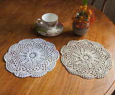 Unbranded White Crocheted Doilies